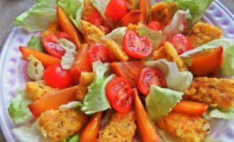 Полента с беконом и овощами