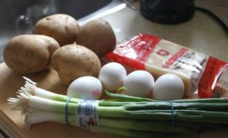 """Картофель в яичнице """"Пир студента"""""""