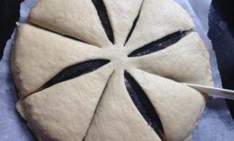 """Маковый пирог """"Цветок"""" из творожного дрожжевого теста"""