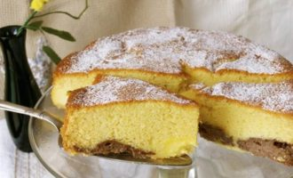 """Торт """"Нуа"""" с двойным заварным кремом"""