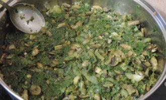 Кальцончини со шпинатно-грибной начинкой