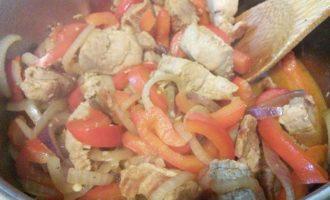 Свиное филе в остром соусе чили
