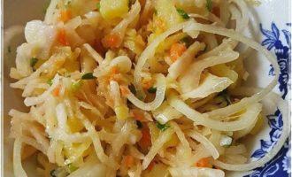 Постный деревенский салат