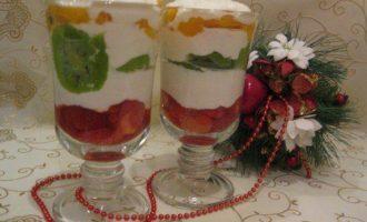 Десерт творожно-фруктовый