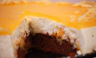 Творожно-апельсиновый торт