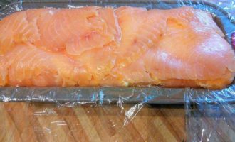Террин из форели с лососем