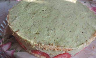 """Клубничный торт с фисташковым кремом """"Фрезье"""""""