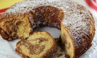 Немецкий мраморный кекс с шоколадной пастой