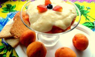 Десерт с заварным кремом, без масла