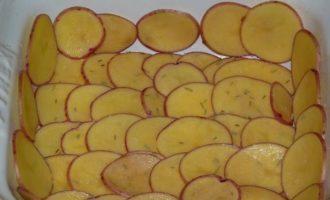 Овощная запеканка с ветчиной и розмарином