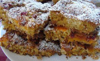 Овсяно-абрикосовый пирог