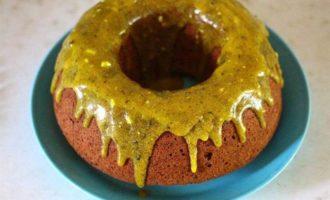 Тыквенный кекс с красной фасолью