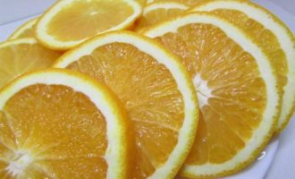 Пряная форель с апельсинами