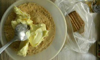 Тарт из печенья с нежной начинкой из клубники