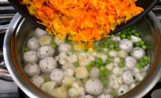 Суп с индюшиными фрикадельками