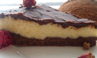"""Шоколадно-кокосовый десерт """"А-ля баунти"""""""