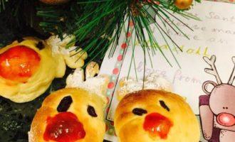 """Рождественские булочки """"Рудольф"""""""