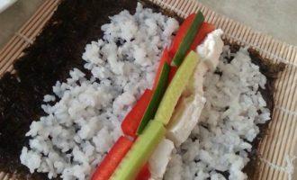 "Роллы ""Разбитое сердце самурая"" + легкий способ варки риса"