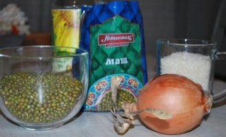 Машевая каша с рисом