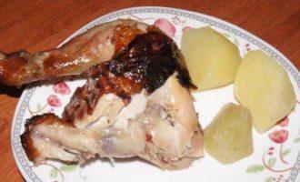 Курица в клюквенном маринаде