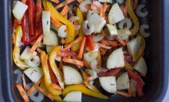 Рагу из печеных овощей с пряным кускусом