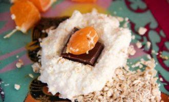 Сырники с шоколадом и мандаринами