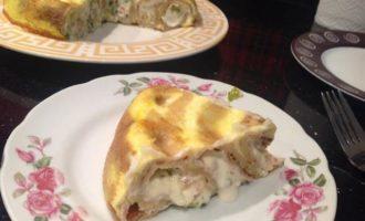 Закусочный блинный пирог
