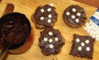 Овсянно-ореховое печенье с шоколадом