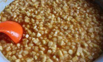 Яблочно-морошковый конфитюр с мартини