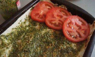 Овощная лазанья из лаваша с лечо и баклажаном