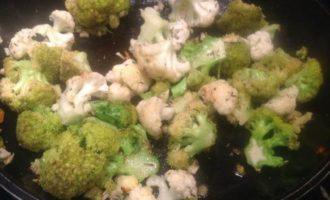 Гратен с цветной капустой и брокколи