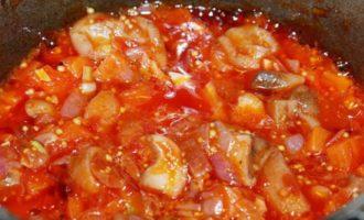 Овощное рагу с тофу, постное меню