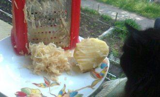 Вареники с полусырой картошкой