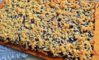Печенье песочное с голубикой