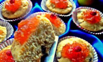 Тыквенные кексы с яблоком