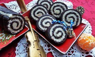 Быстрый кокосово-шоколадный рулет