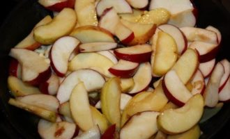 Яблочная пахлава с лавандовым сиропом