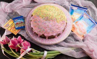 """Торт """"Нежность"""" с шоколадом и орехами"""