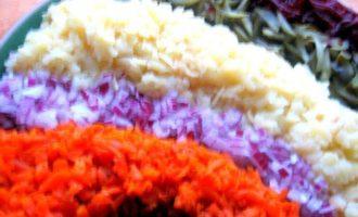 Праздничный винегрет с сардинами