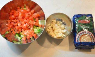 Запеченный рябчик и киноа с овощами