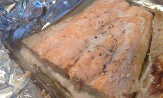 Кесадилья с лососем