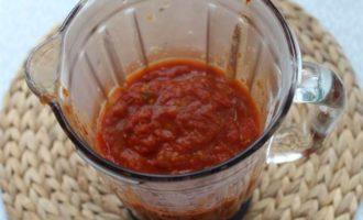 Томатный соус из запеченных овощей