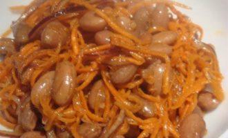 Салат из фасоли, острый