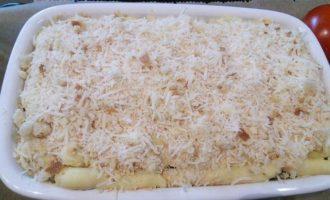 Картофельная запеканка с соусом путанеска