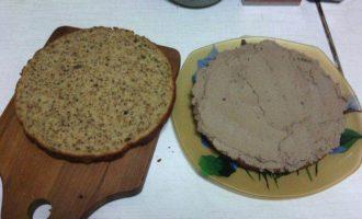 Воздушный тыквенно-ореховый бисквит с тыквенно-шоколадным кремом